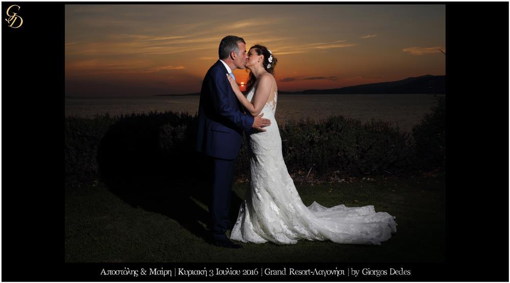 Φωτογράφηση γάμου στο Grand Resort Lagonissi
