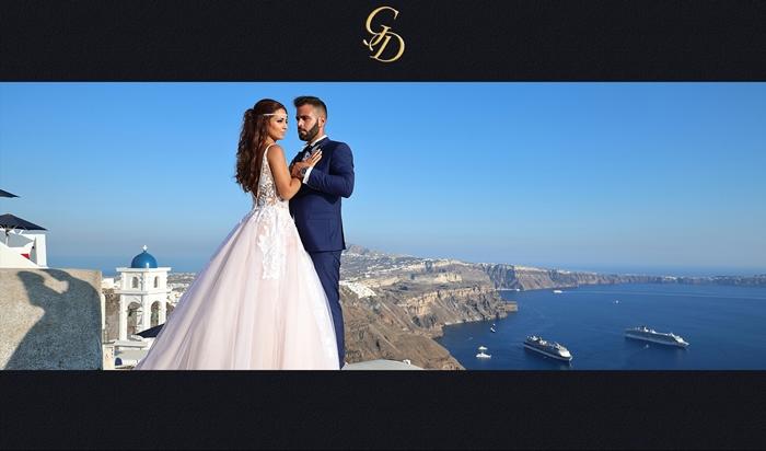 φωτογράφηση γάμου στη σαντορίνη
