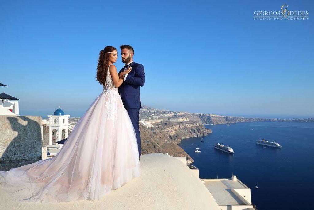 Καλλιτεχνική φωτογράφηση γάμου στη Σαντορίνη