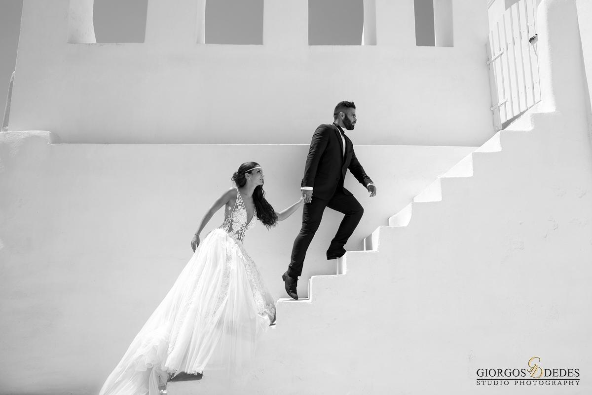 Ασπρόμαυρη φωτογραφία γάμου