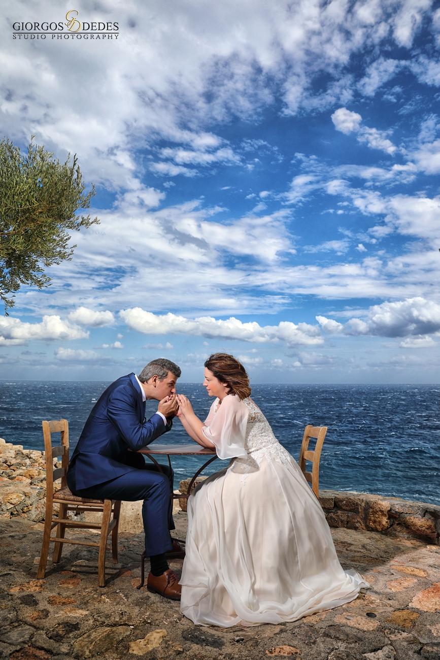 Φωτογραφίες γάμου στη Μονεμβασιά